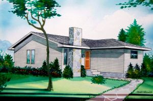 1983 Architectural Rendering 2 by Frohickey