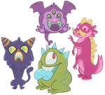Monster Designs by kozispoon