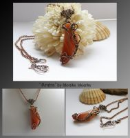 Andra- wire wrapped necklace by mea00
