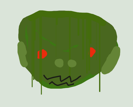 Swamp Monster Face by Madzilla345