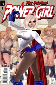 Own Power Girl Comic Cover by BoReese