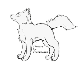 Wolf Lineart *rules below* by ziggyclaws