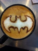 Batman Latte by Coffee-Katie