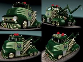 1956 Ford F500 Tow Truck by CWRudy