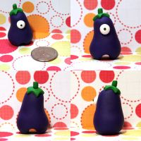 Timid Eggplant Monster by TimidMonsters