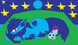 Star and Arcanine :Blue Moon: by thecat1313