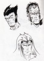 random faces by mad-flavor
