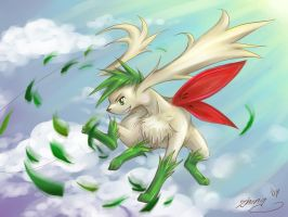 Pokemon - Shaymin Leaf Storm by zettablob