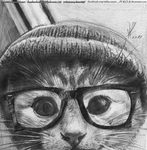 Hipster Cat For  Teekila By JY-KO-X by zenx007