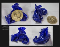 Collectors 3D Sleeping Dragon Printed Coin Holder by The-SixthLeafClover