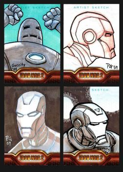 Iron Man Sketch Cards 3 by mebooky