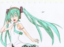 Hatsune Miku! by bklighters
