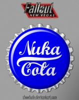 Nuka Cola Quantum Bottle Cap by Shoedude