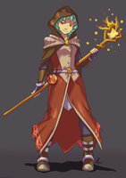 Mage of Fire by EKKnight