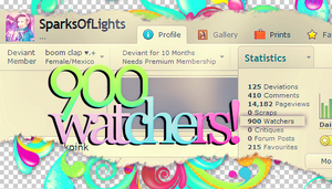 900 watchers!! (Importante que lo leas) by SparksOfLights