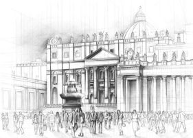 The  St. Peter's Square by Kosa666