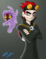 Jack Spicer and Wuya by Toonexterminator