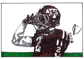 Johnny Manziel Ink Illustration 2 by JColley79