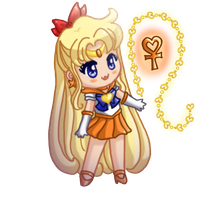Sailor Venus - Chibi by drewbiedooah