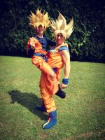 Goku and Goten by Alexcloudsquall