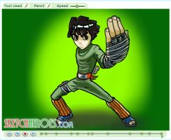 How to draw Rock Lee Part 3 by SketchHeroes