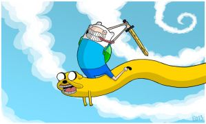 Finn and Jake by EO88