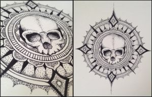Skull Mandala by KbunnyTheReckless