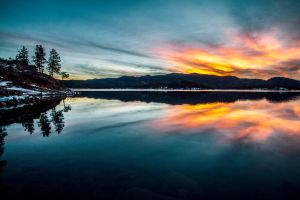 Pactola Reservoir Sunset by 5isalive