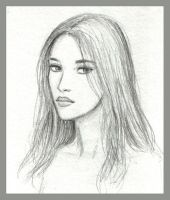 girl with long hair sketch by dashinvaine