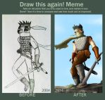 Draw this again! Meme - OC Iterion by Hellbeholder