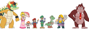 Mario Bros re-designs by pocket-arsenal