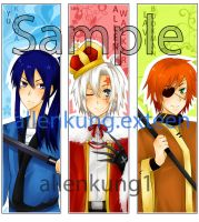 D.Gray-man Bookmarks by allenkung1
