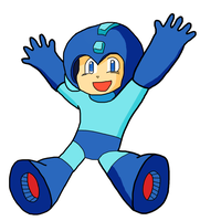 The Blue Bomber is back by Squirtlelover
