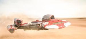 Star Wars - Going Low and Fast by rOEN911