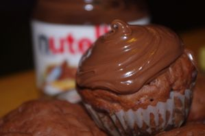 nutella muffins by MoonShadoww
