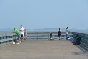 Fishing On the Pier 3 by Miss-Tbones