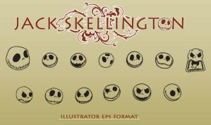Jack Skellington Vectors by sebgonz