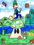 Luigi Jumps Over a Mushroom by SonicClone