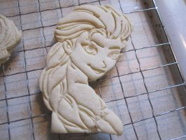 Princess Elsa Cookie Baked by B2Squared