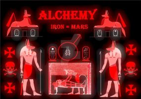 Alchemy Anubis printable for my fans by Mikewildt