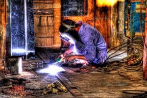 hdr man at work by omaralNaqbi