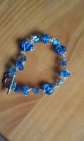 Blue Wire Bracelet by CrushedRoses11