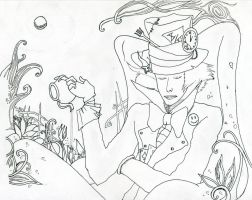 Mad Hatter - Lineart by Andrex91
