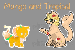 Tropical Mango BubblePups Auction OPEN! by pinalapple