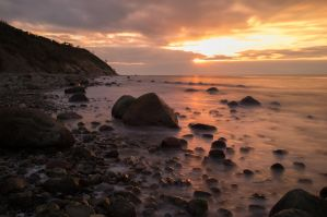 hiddensee sunset by TomBrueck