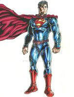 Superman stoic by wikkidkid