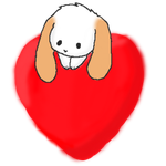 Happy...well, have a cute rabbit on a heart by fangs211