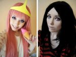 Marceline and Bubblegum by Helen-Stifler