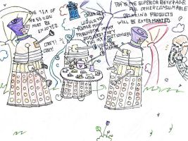 Daleks in Wonderland by Dalek-Pants