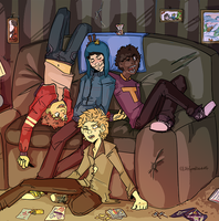Craig and the gang by Chexmicks
